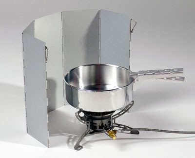 BasicNature Alu Windschutz, faltbar