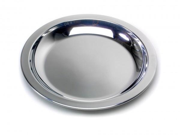 BasicNature Edelstahl Teller - flach