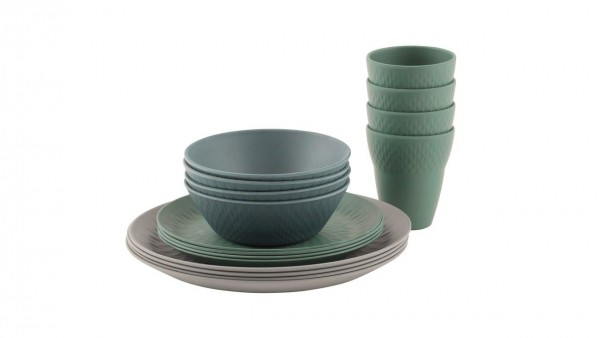 Lotus Bamboo 4 Person Dinner Set