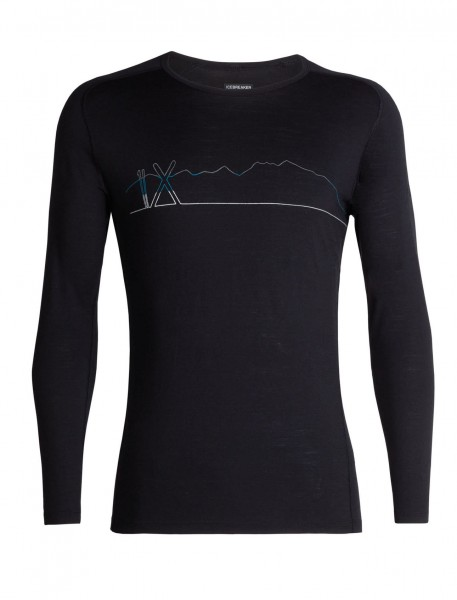Mens 200 Oasis Deluxe Raglan LS Crewe Single Line Ski