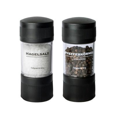 BasicNature Mühlenset 'Pfeffer und Hagelsalz'