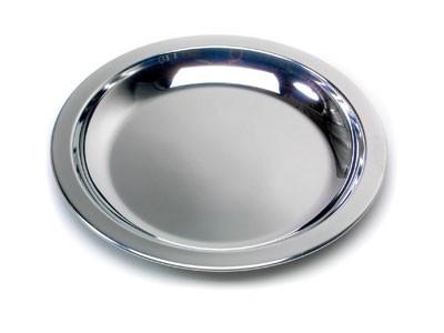 Edelstahlteller Flach - 23,5 Cm