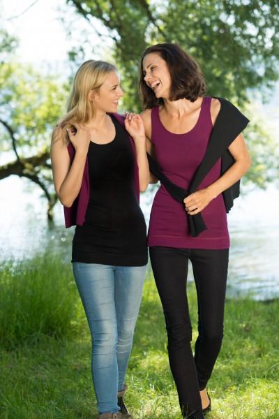 Damen-Longshirt ärmellos