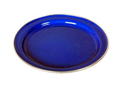 Relags Emaille Teller flach - blau 26 cm